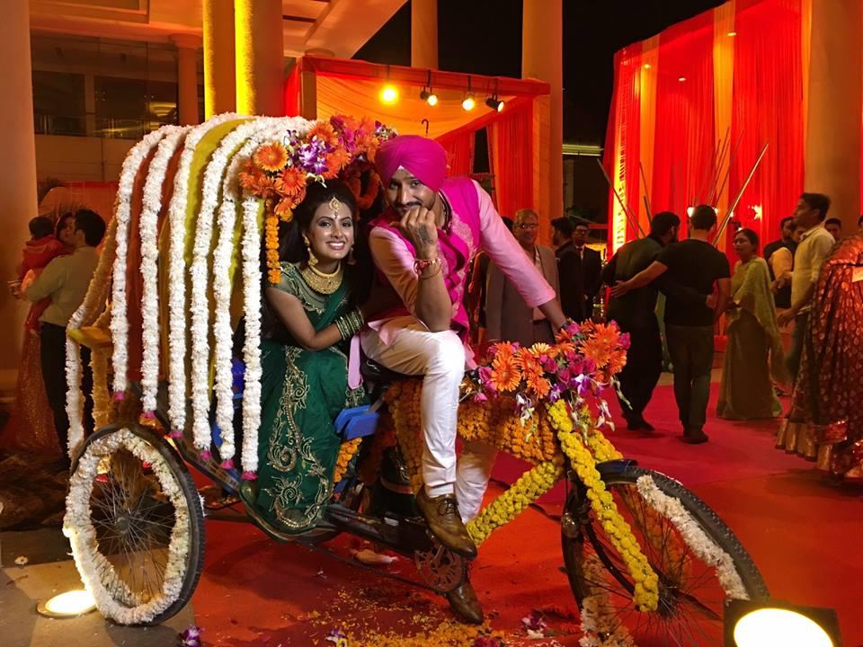 Harbhajan Singh & Geeta Basra Sangeet Pictures