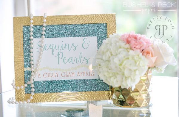Sequins and Pearls Theme Birthday Party