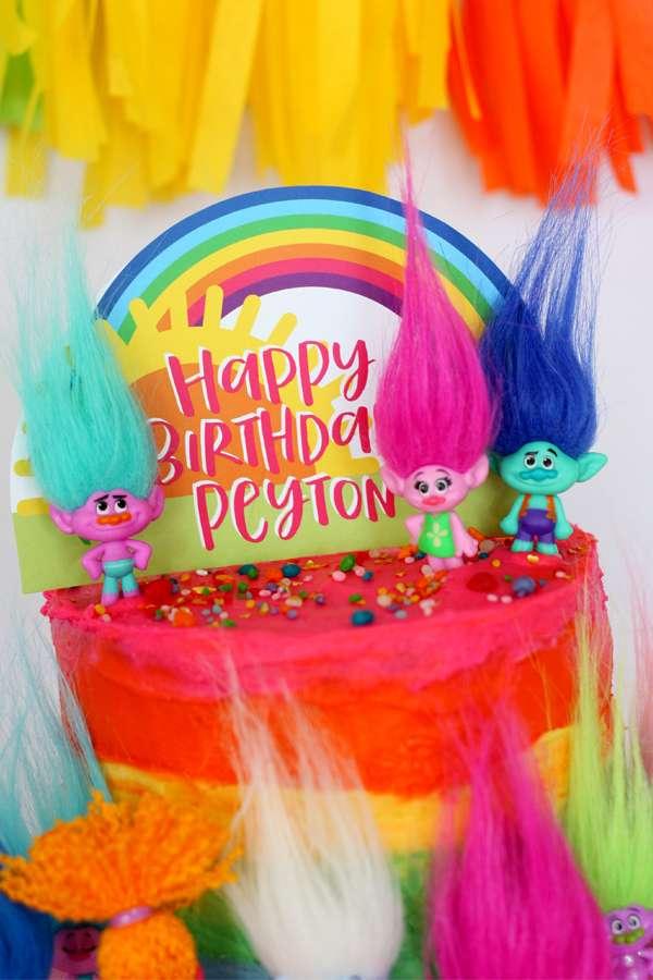 Trolls Theme Birthday Party
