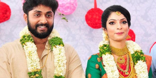 Malyalam Actor Dhyan Sreenivasan and Arpita Sebastian 's wedding reception at the Gokulam Park, Kochi.