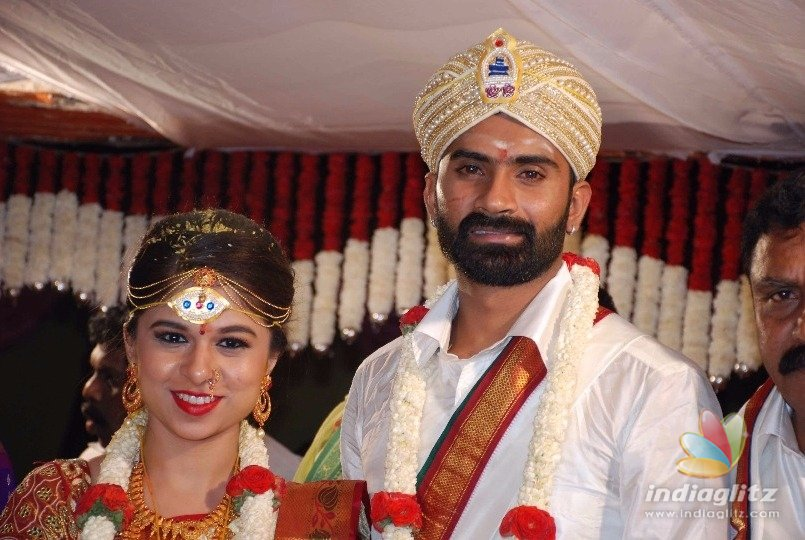 A South Indian Wedding Reception of Kannada Actor Yogesh and His partner Sathiya