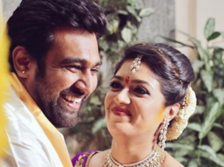 Kannada Actor Chiranjeevi Sarja and Meghana Raj's Wedding Reception at White Petals in Palace Grounds, Bengaluru.