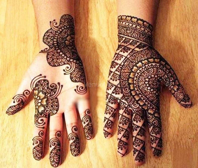 Easy & Simple Arabic Mehandi Design for Hand Images