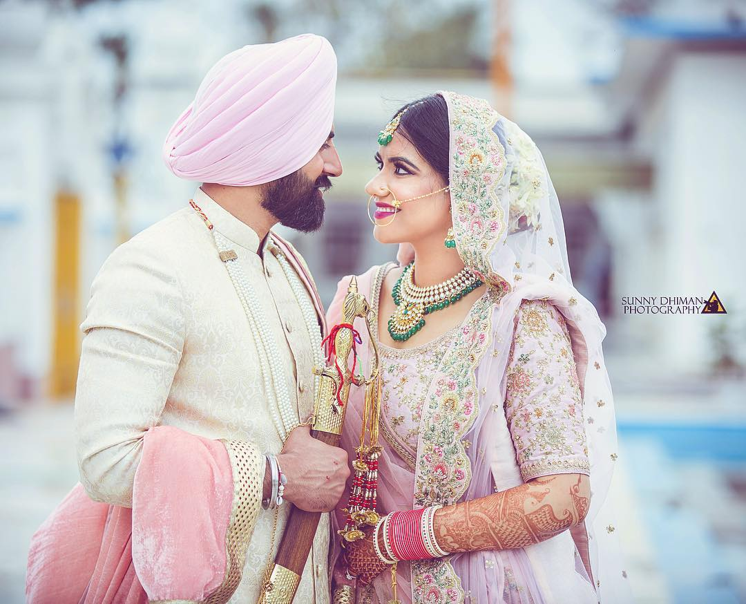 A Grand Punjabi Wedding With Pink Bridal Lehenga