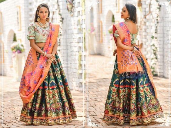 New and Trendy Banarasi Lehenga Designs and images 2020