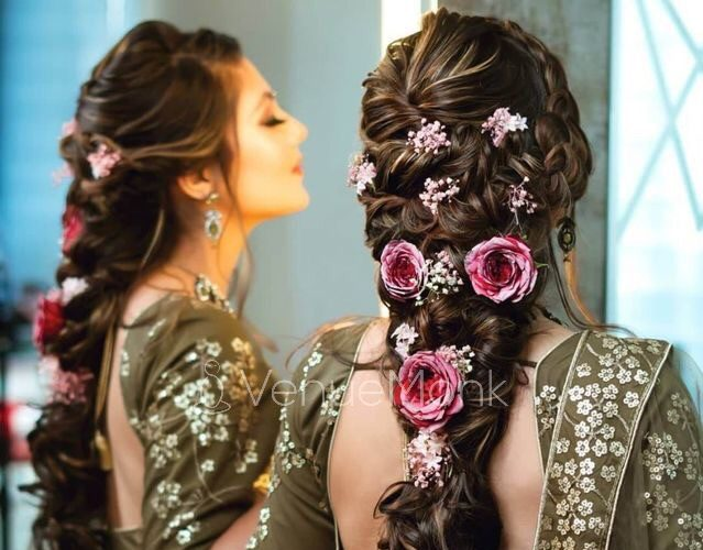 Latest Indian Bridal Braided Hairstyles for Long Hair