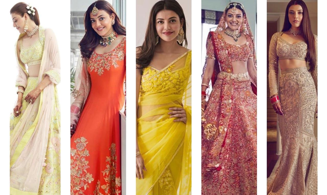 All you need to know about Kajal Aggarwal's Wedding outfits