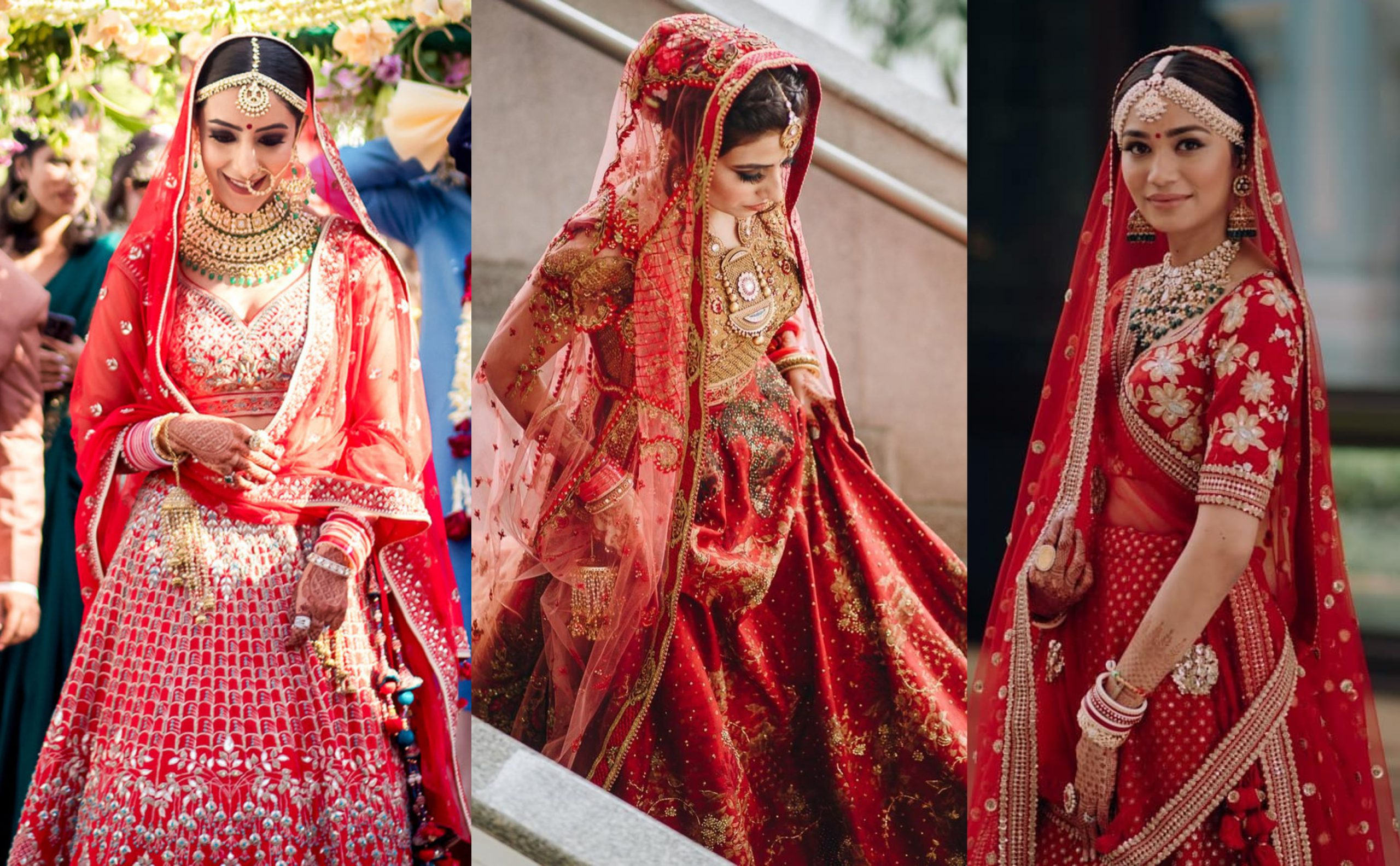 20+ Latest Top Red Bridal Lehenga Designs for your Wedding