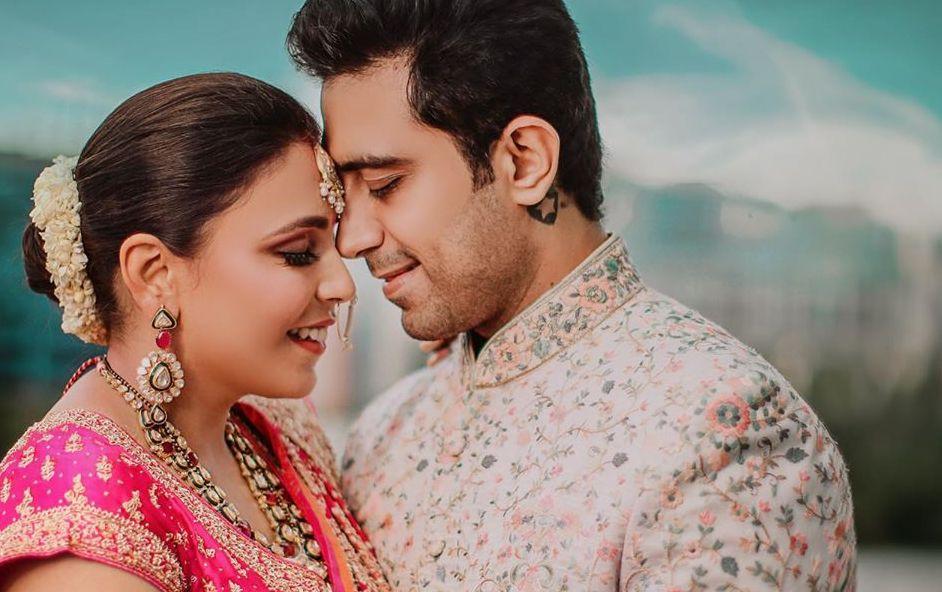 A Ritu Kumar Bride flaunted her Bridal Lehenga at The Leela Ambience, Gurgaon