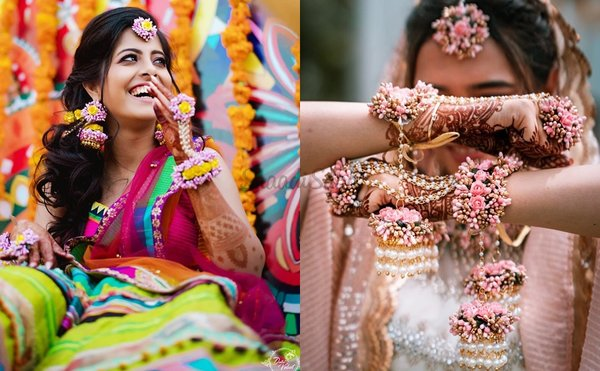 Latest Bride Floral Jewellery Designs for Haldi and Mehandi Ceremony