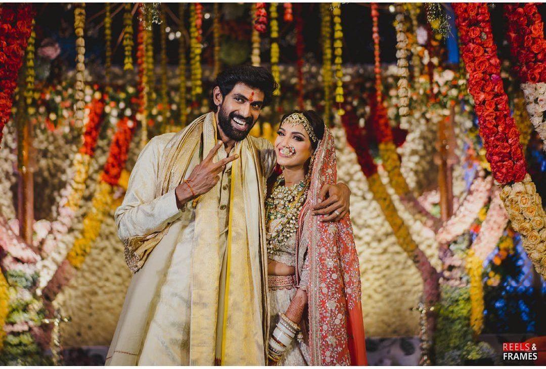 South Indian Actor Rana Daggubati and Miheeka Bajaj's Indian Wedding