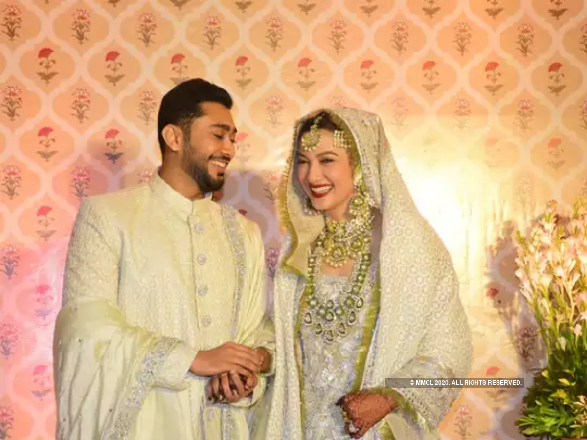 Bollywood Actress  Gauahar Khan's Indian Wedding Outfits at her Muslim Wedding Ceremonies