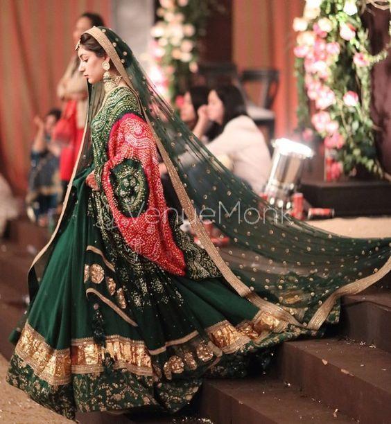30+ Bridal Green Lehenga for Indian Wedding