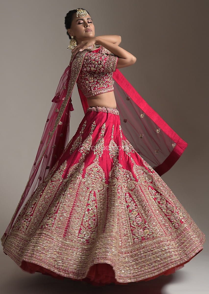 Red KarwaChauth Outfits