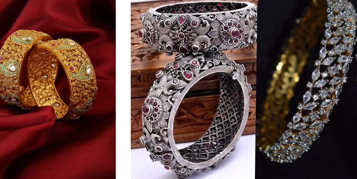 25+ Latest Kada Design For Ladies in Gold,Silver and Diamond