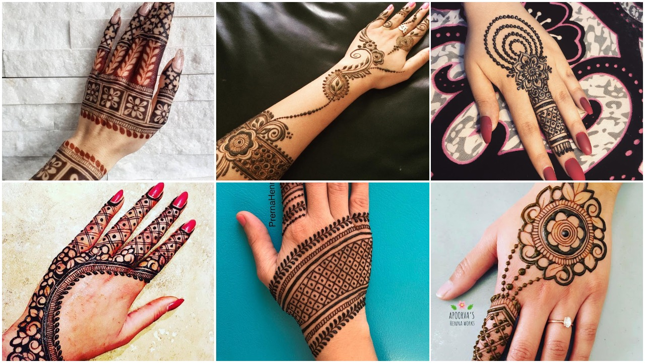 Easy & Simple Arabic Mehandi Design for Hand Images