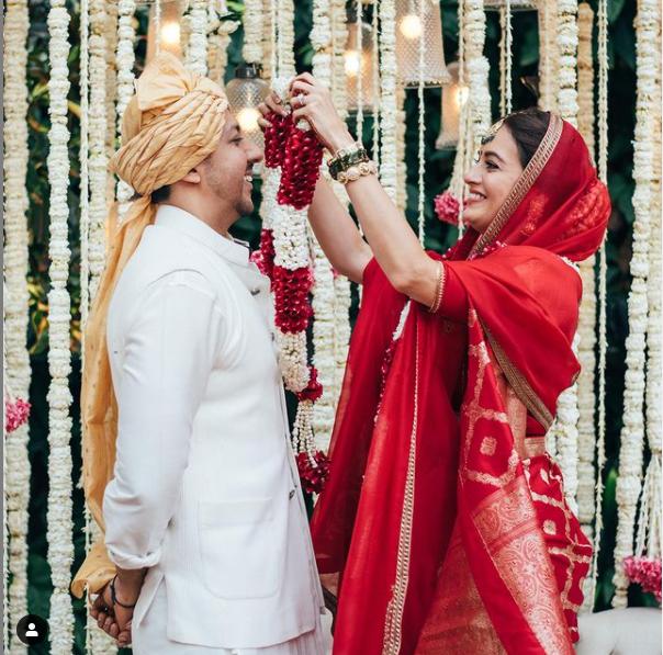 Bollywood Actress Dia Mirza and Businessman Vaibav Rekhi  Wedding Pictures