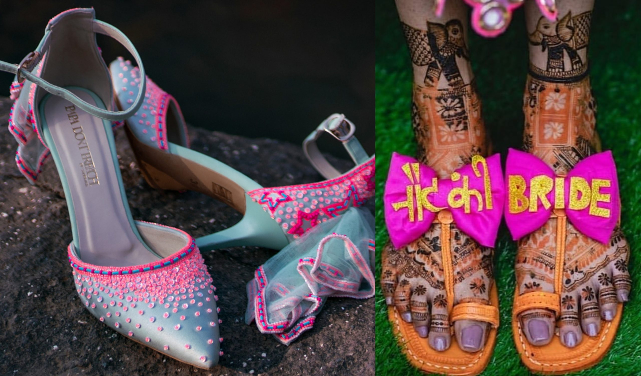 15+ New and Unique  Bridal Shoe Designs for Pre-wedding functions 2021