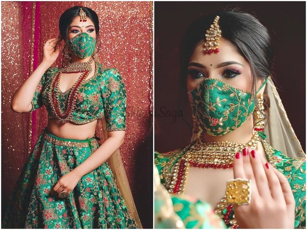 20+ New and Stylish Mask and Dress Looks Indian Wedding 2021