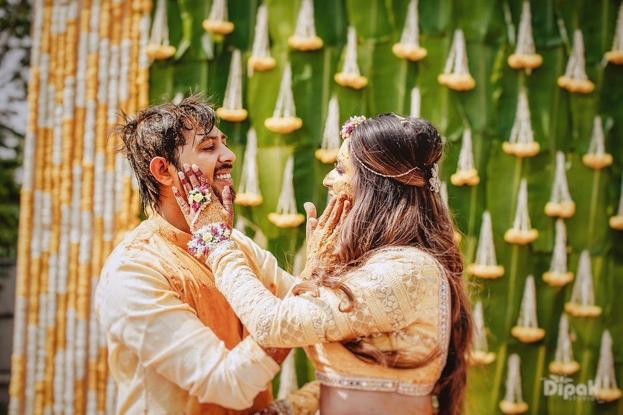 A Grand Indian Wedding With Pool Party And Outdoor Haldi Ceremony