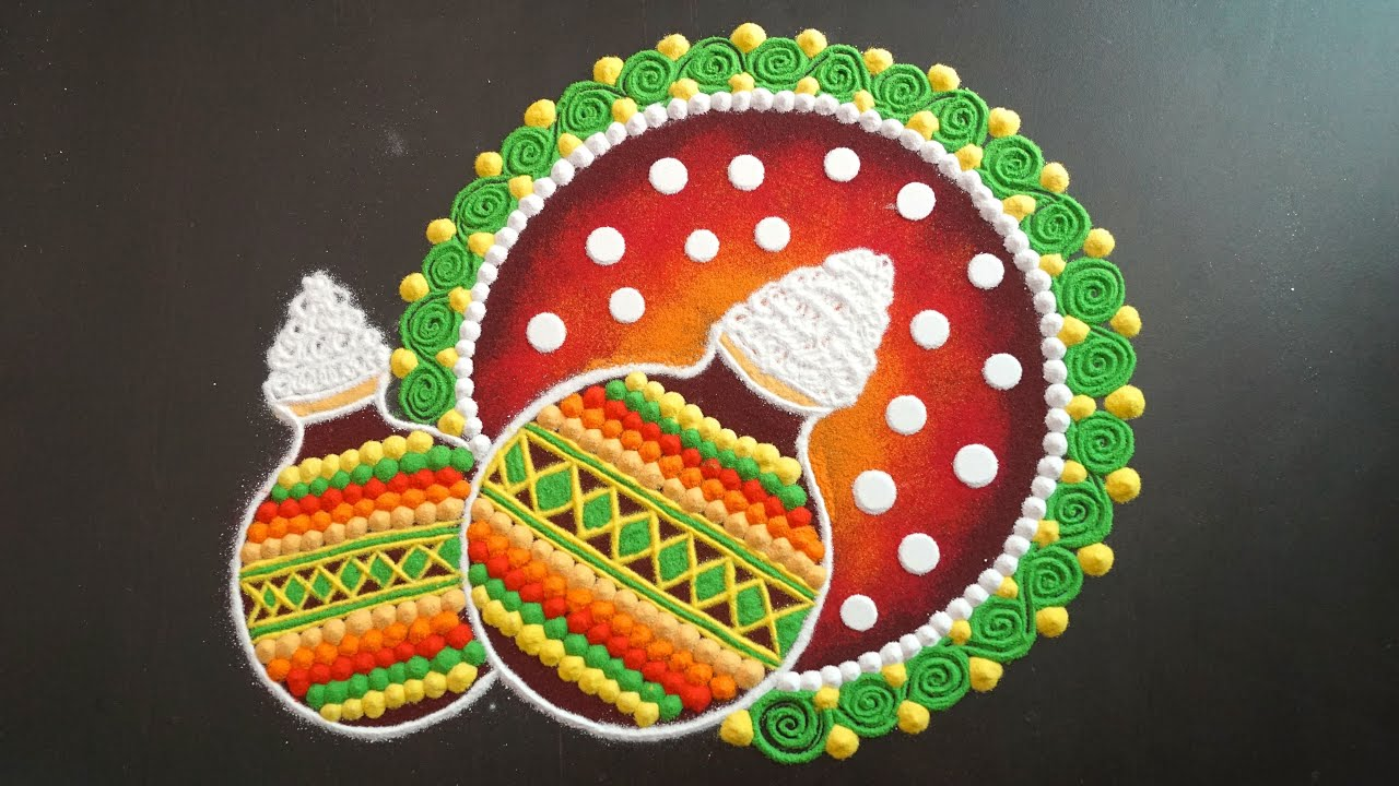 25+ Simple and Latest Kolam Rangoli Designs for Pongal 2021