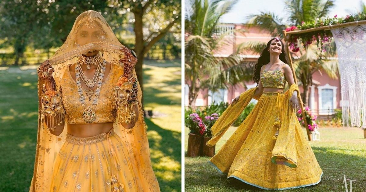 15+ New and Latest  Yellow Lehenga Designs For Every Indian Bride
